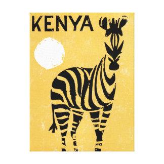 Impressão Em Tela Zebra de Kenya África do vintage