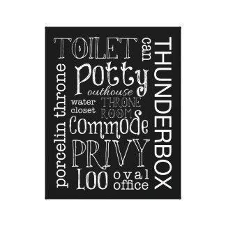Impressão engraçado da arte das canvas do banheiro