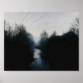 impressão escuro do poster do rio