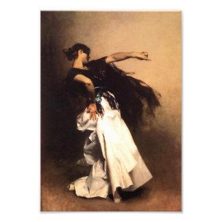 Impressão espanhol do dançarino de Sargent do cant Foto