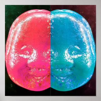 Impressão espelhado do poster das caras de cristal