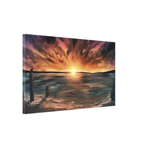 - Impressão esticado afastado lavado 40x22 da arte Impressão De Canvas Esticadas