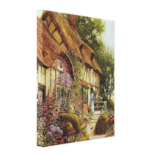 Impressão esticado casa de campo das canvas do paí impressão em canvas