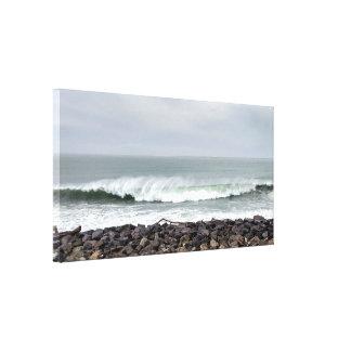 Impressão esticado das canvas da onda de oceano do