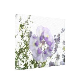 Impressão esticado das canvas das glicínias flores impressão de canvas esticada