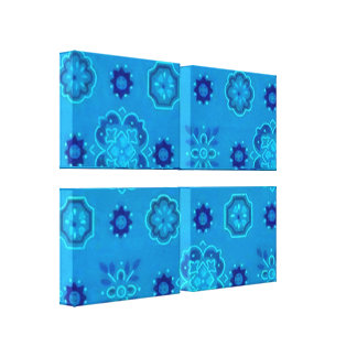 Impressão esticado das canvas do Bandanna azul ret Impressão De Canvas Envolvidas