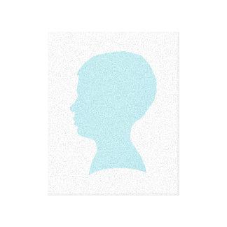 Impressão esticado silhueta das canvas do azul de  impressão de canvas esticadas