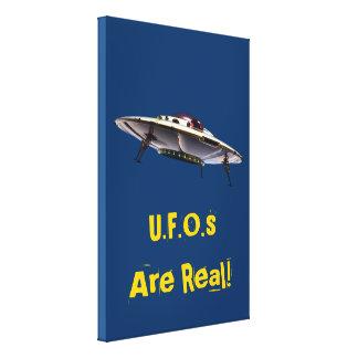 Impressão esticado UFO metálico das canvas Impressão De Canvas Esticadas