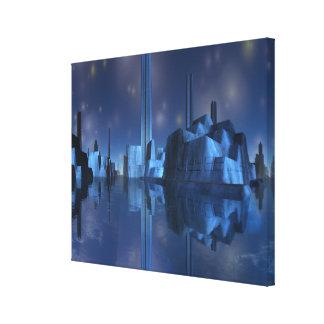 Impressão estrangeiro azul do envoltório das canva impressão em tela canvas