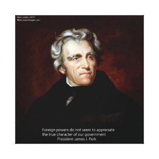 Impressão estrangeiro das canvas das citações dos impressão em tela