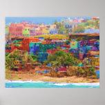 Impressão extra muros das canvas do Los Colores