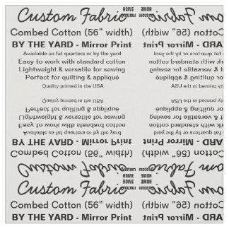 Impressão feito sob encomenda algodão penteado, tecido