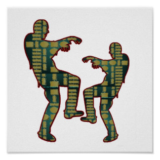 Impressão FELIZ das CELEBRAÇÕES: Dança do ZOMBI
