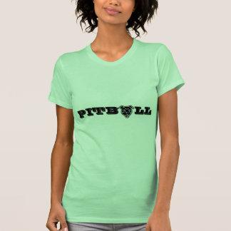 Impressão feliz do logotipo de Pitbull - Camiseta