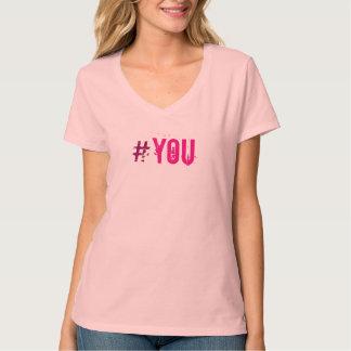 Impressão Flirty do rosa de HASHTAG#YOU todas as Tshirt