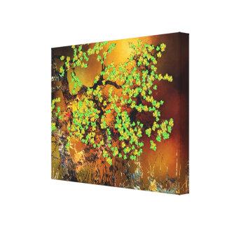 Impressão floral abstrato das canvas do design das