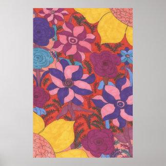 Impressão floral boémio moderno do poster da arte