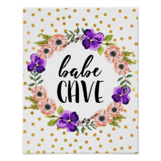 Impressão floral da caverna do borracho da