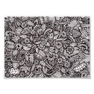 Impressão floral da foto da tinta impressão de foto