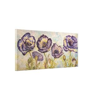 Impressão floral das canvas da aguarela das