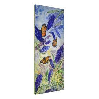 Impressão floral das canvas da aguarela do monarca