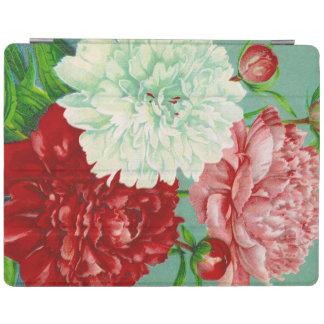 Impressão floral das peônias do vintage da arte do capa smart para iPad