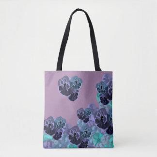 Impressão floral do vintage romântico bolsas tote