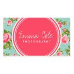 Impressão floral dos rosas femininos do vintage modelos cartões de visita