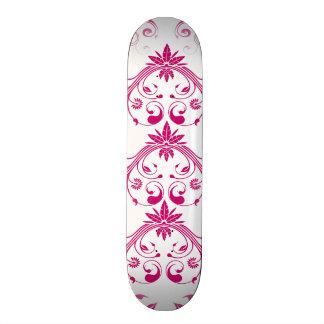 Impressão floral elegante feminino do Flourish Shape De Skate 21,6cm
