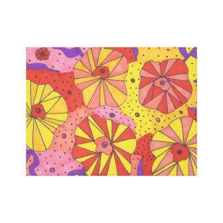 Impressão floral futurista da arte das canvas do