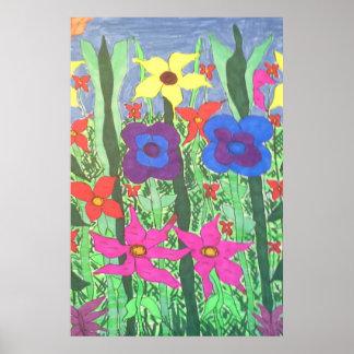 Impressão floral popular do poster da arte de Boho