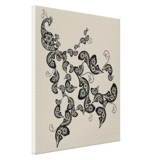 Impressão floral preto das canvas de arte de Deco Impressão Em Tela