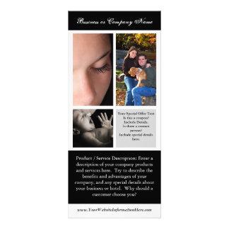 Impressão, fotografia ou casamento do cartão da cr 10.16 x 22.86cm panfleto