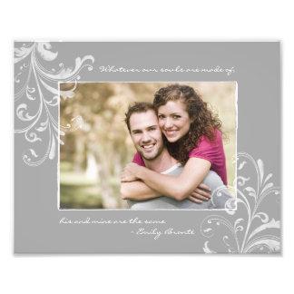 Impressão fotográfico do modelo floral do branco c impressão de foto