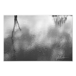 Impressão fotográfico preto e branco de Waterscape