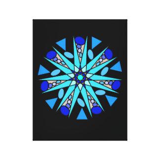 Impressão geométrico cósmico azul preto da estrela