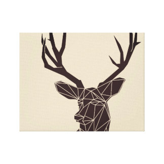 Impressão geométrico das canvas dos cervos dos