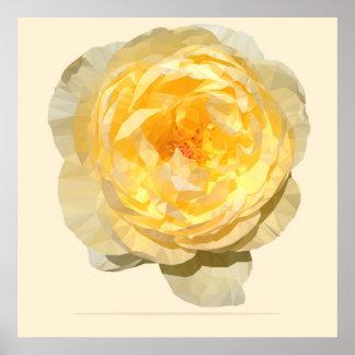 Impressão geométrico do poster do vintage do rosa