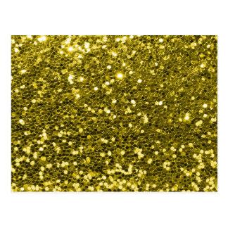 Impressão Glam da faísca do brilho do ouro do Cartão Postal
