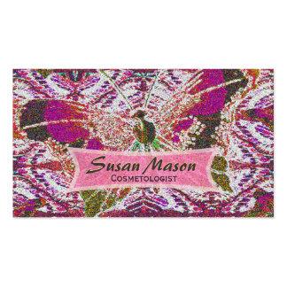 Impressão Glittery da borboleta Cartões De Visita