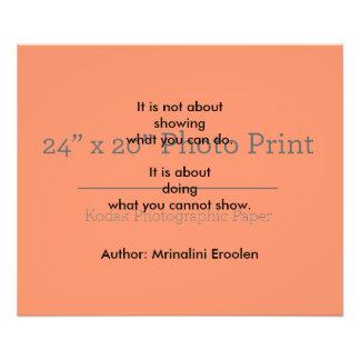 Impressão inspirado da foto impressão de foto
