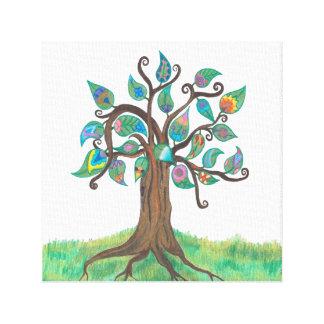 Impressão irrisório das canvas da árvore