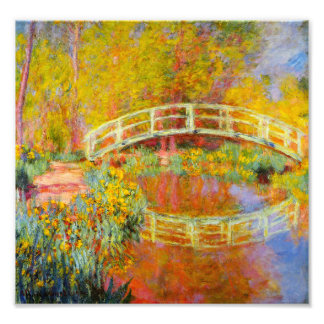 Impressão japonês da ponte de Monet Impressão De Foto