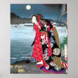 Impressão japonês do vintage