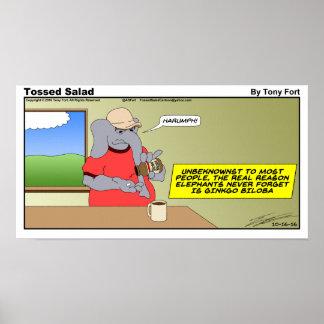 Impressão lanç dos desenhos animados de domingo da
