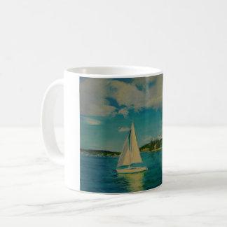 Impressão liso da navigação na caneca de café