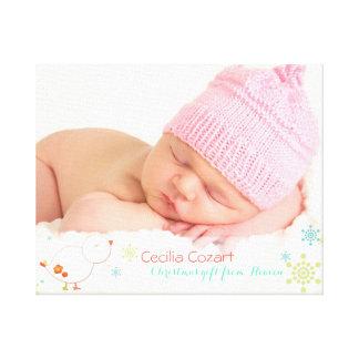 Impressão lunático das canvas da foto do bebé do impressão em tela
