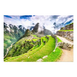 Impressão Machu Picchu da foto