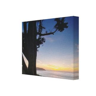 Impressão magnífico das canvas do por do sol de