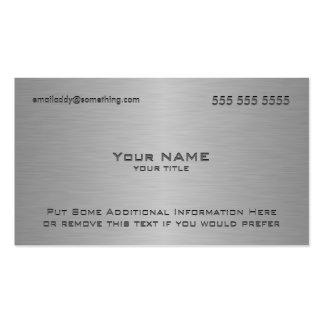 Impressão metálico moderno da textura cartão de visita